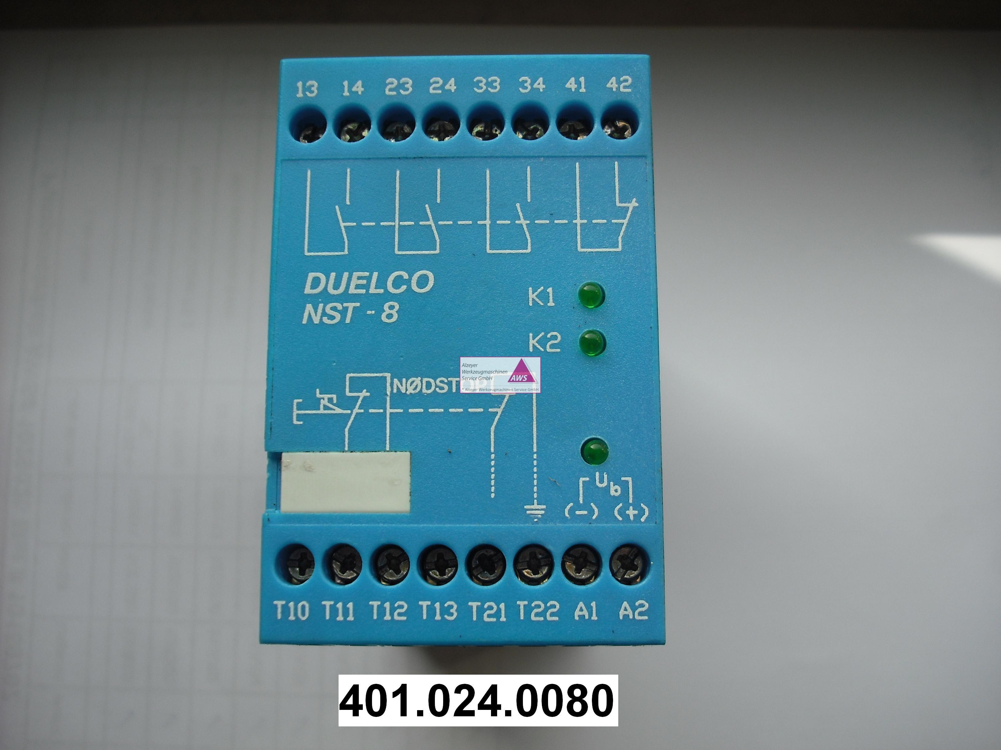 Sicherheitsrelais Duelco NST-8  24 V DC