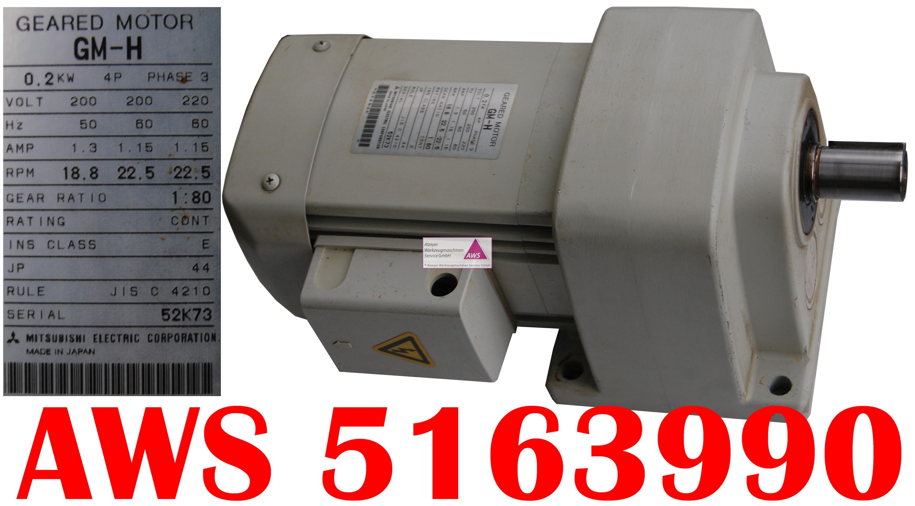 Getriebemotor GM-H 0,2kW