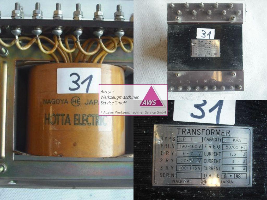 Trafo  FANUC prim.: 190-460V  sek.:6-7, 20-22, 100-115V