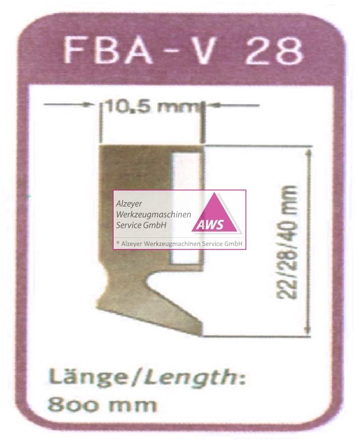 Abstreifer FBA-V 28 800mm lang