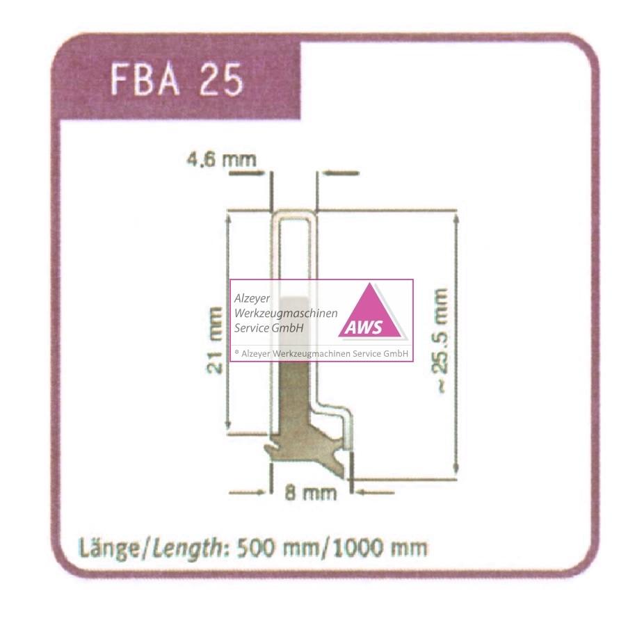 Abstreifer FBA 25  500mm lang