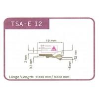 Abstreifgummi für TSA - E12 1000mm lang